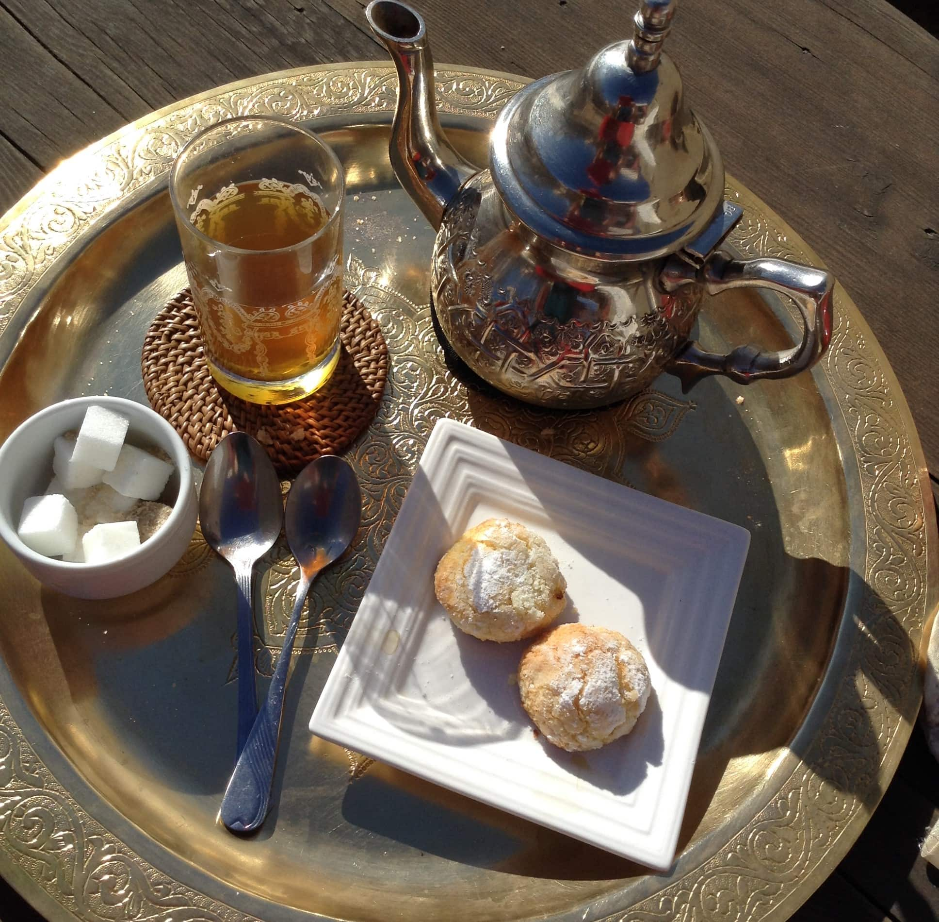 "Tea in Morocco. Featured in Okakura's ""Book of Tea"" in the Examined Life Library."