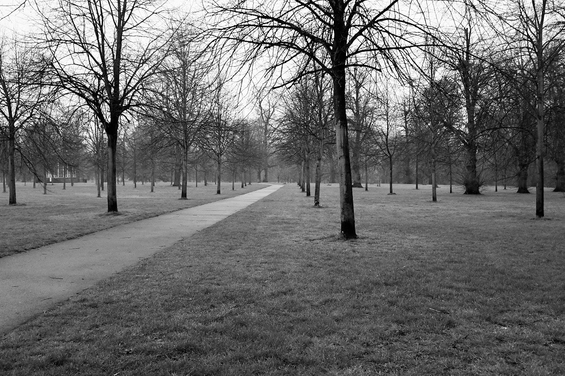 "Photo of Kensington Gardens. Featured in Stephen Fry's ""Ode Less Travelled."""