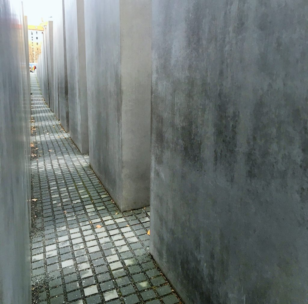"Photo of Memorial to the Murdered Jews of Europe, Berlin. Featured in Elie Wiesel's ""Night"" in The Examined Life Library."