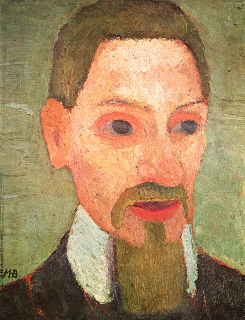 """Rainer Maria Rilke"" (1906) by Paula Modersohn-Becker, a critical Expressionist painter and great friend of Rilke."
