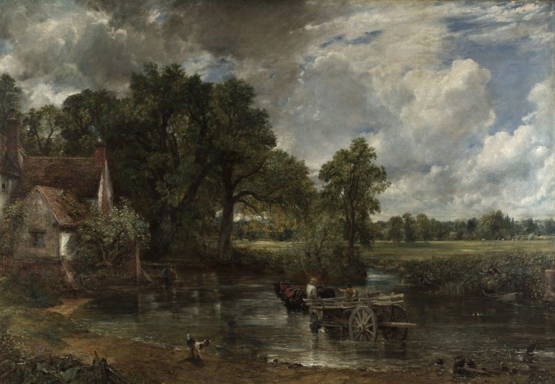 "John Constable's ""The Hay Wain"" featured in A.E. Housman's ""A Shropshire Lad"" in the Examined Life Library."