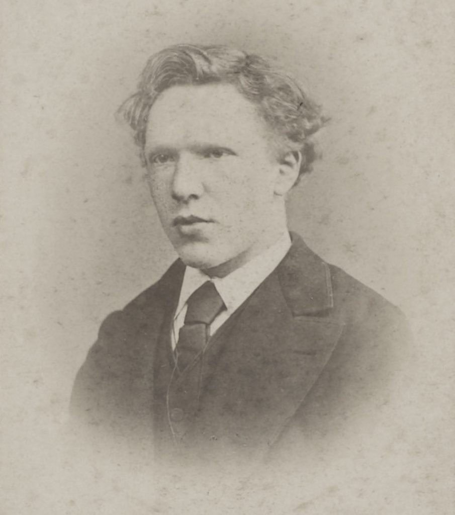 "Vincent Van Gogh age 19. Featured in Van Gogh's ""Letters of Vincent Van Gogh"" in the Examined Life Library."