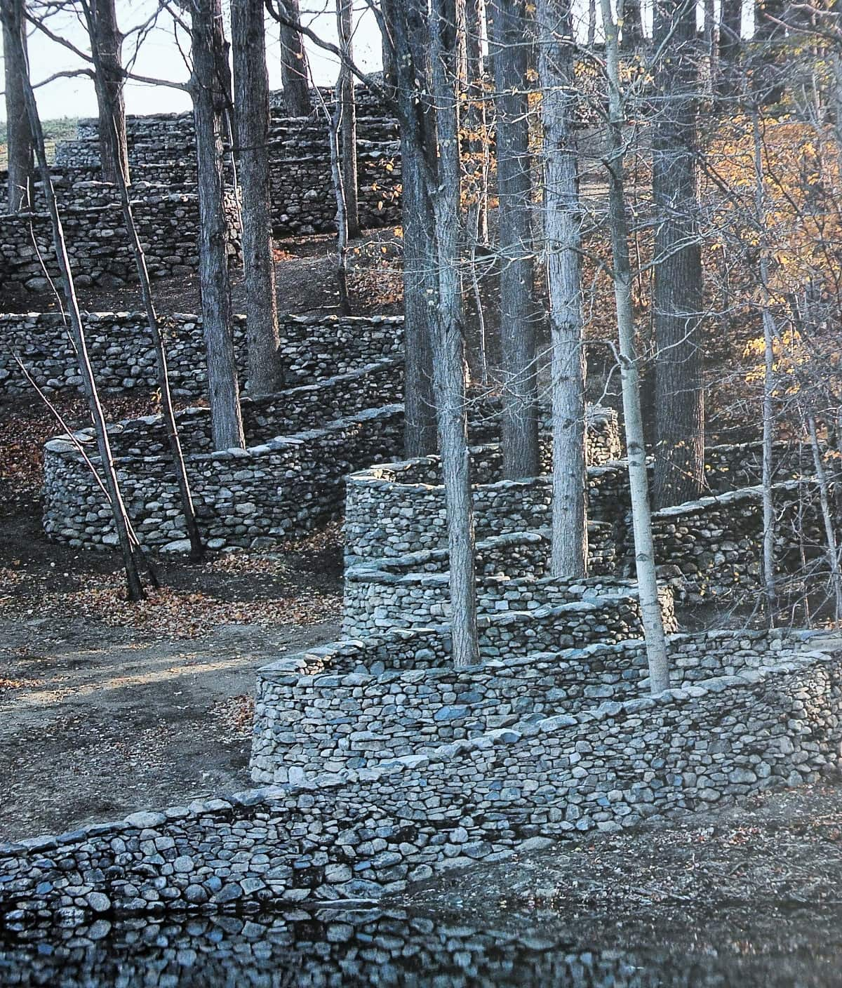 """The Storm King Wall"" by Andy Goldsworthy featured in Thomas A Clark's ""In Praise of Walking"" in the Examined Life Library."