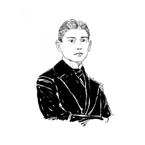 Illustration of Franz Kafka © The Examined Life