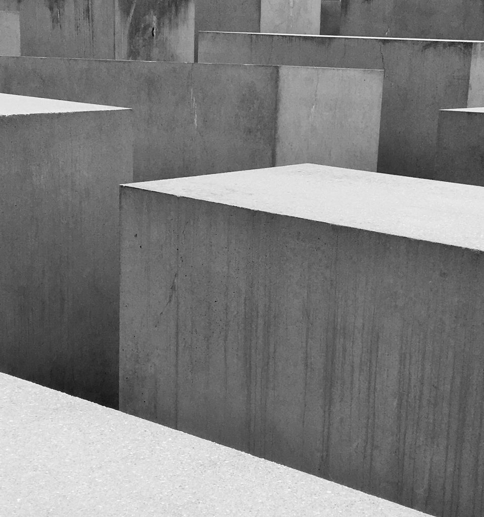 "Memorial to the Murdered Jews of Europe, Berlin featured in post ""Carrying the Burden of Witness."""