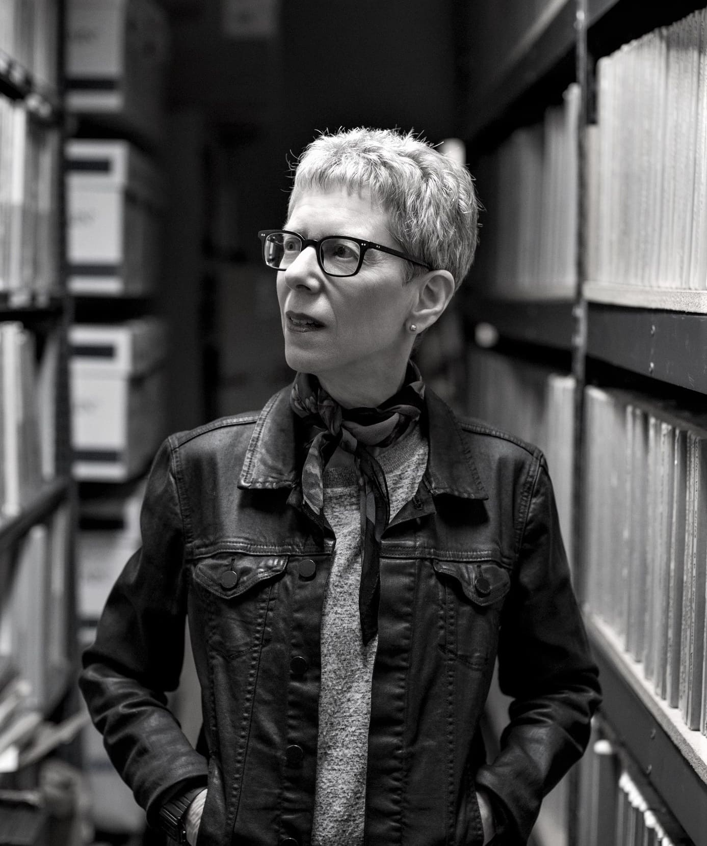 "Photo of Terry Gross. Featured in Gross' ""All I Did Was Ask"" in the Examined Life Library."