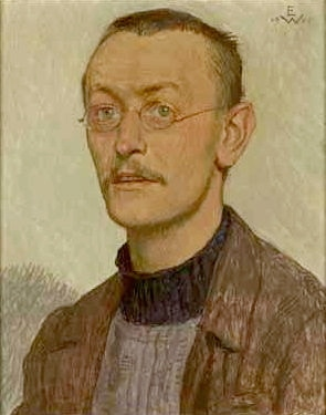 "Portrait of Hermann Hesse by Ernst Wurtenberger, 1905. Featured in Hesse's ""Seasons of the Soul"" in the Examined Life Library.."
