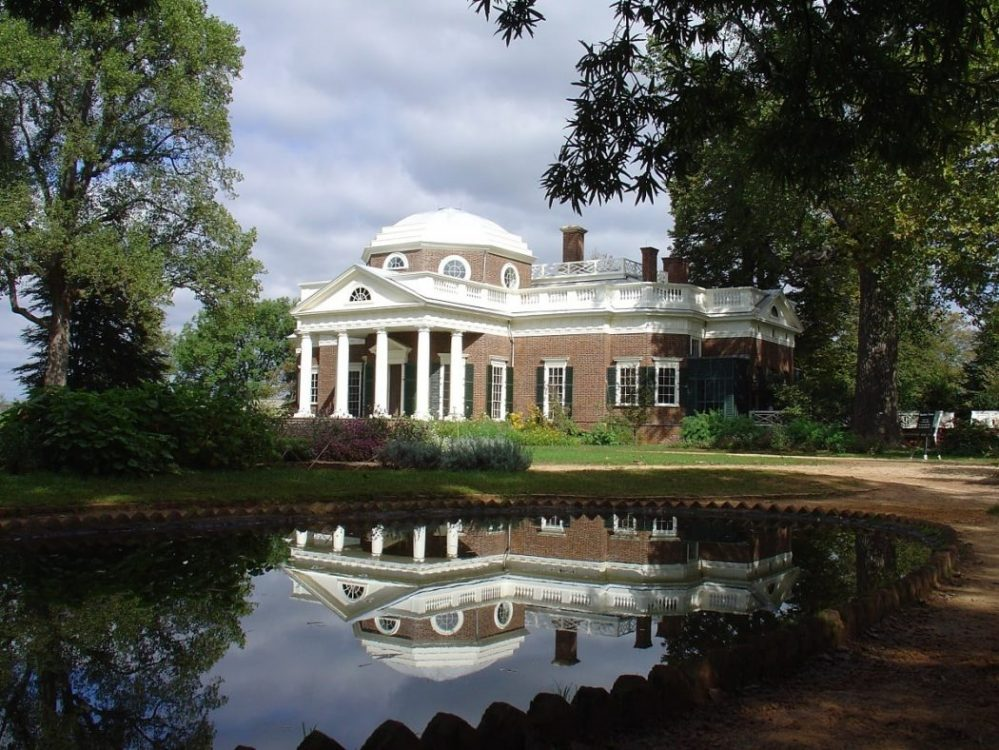 "Thomas Jefferson's Monticello. Featured in Andrea Wulf's ""The Founding Gardeners"" in The Examined Life Library."