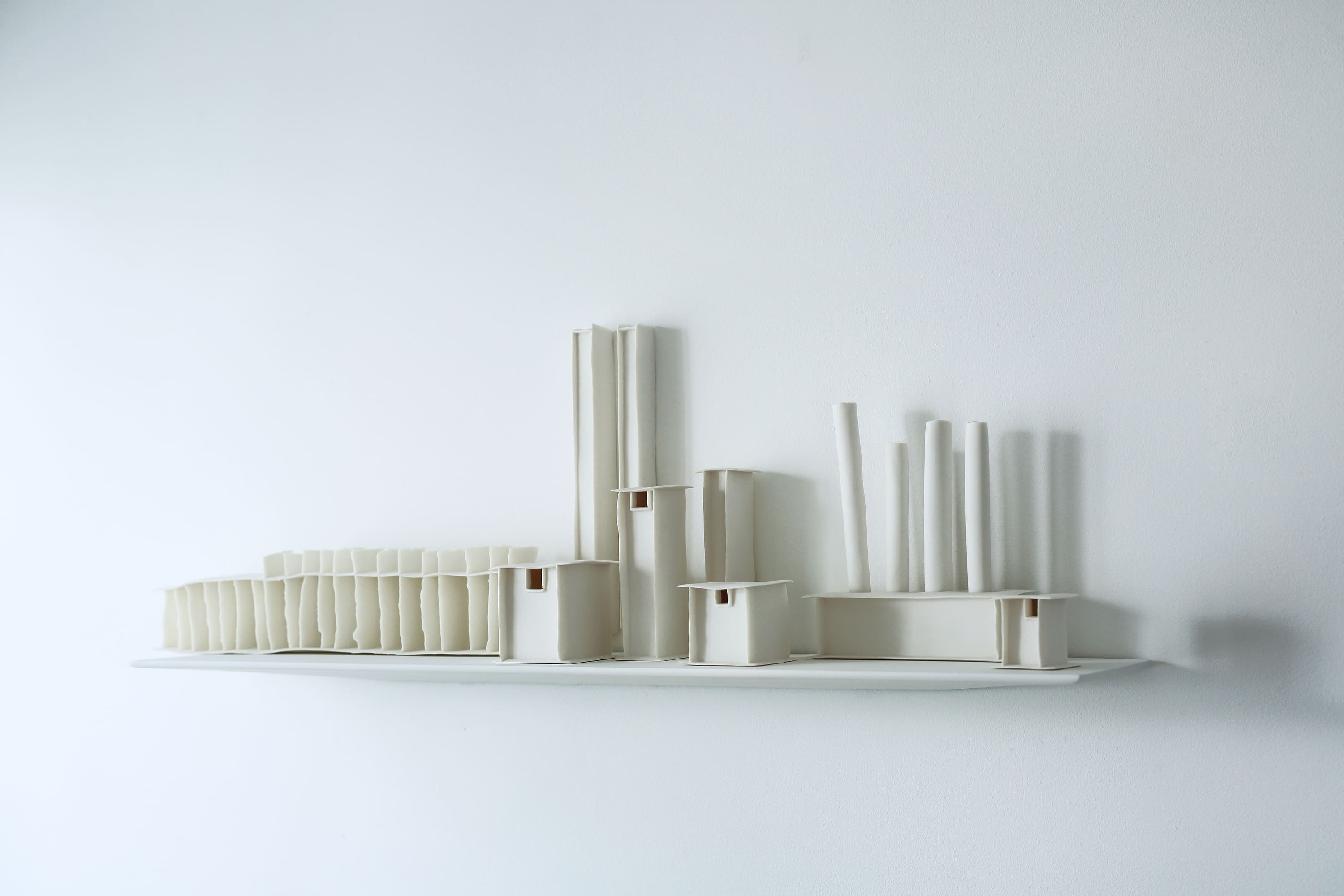 """""""Cityscape"""" by ceramic artist Isobel Egan featured in """"The Space and Shape of Memory."""""""