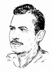 Illustration of John Steinbeck © The Examined Life