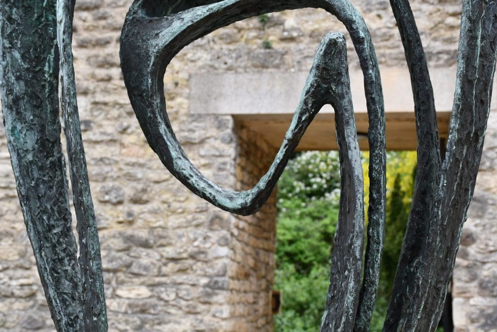 "Bronze cast sculpture model for ""Meridian"" by Barbara Hepworth. New College, Oxford featured in Barbara Hepworth's ""Writings and Conversations"" in The Examined Life Library."