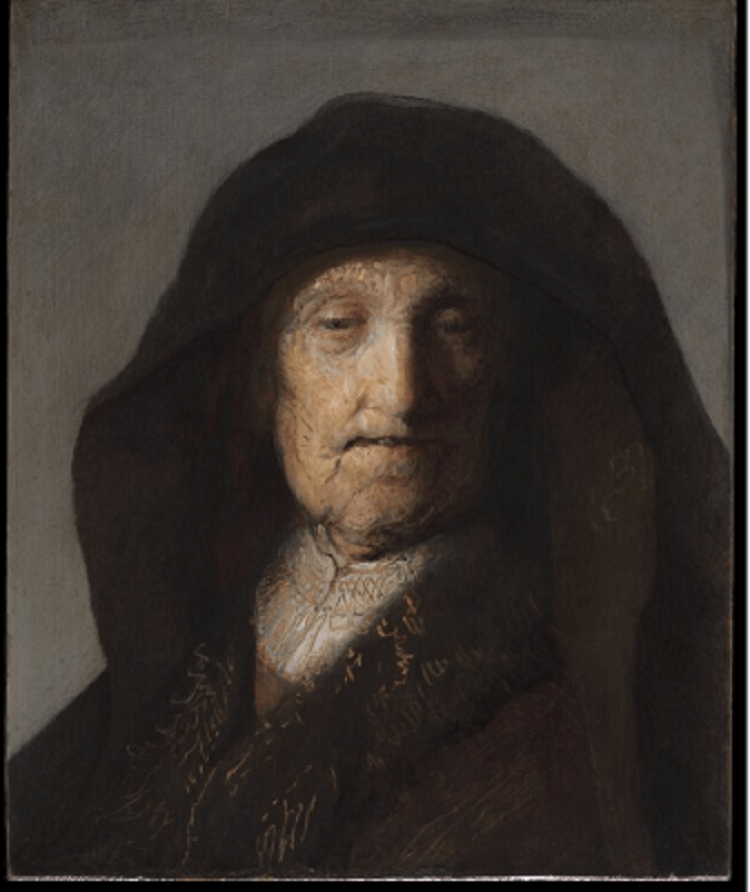 "'Rembrandt's Mother' by the school of Rembrandt van Rijn for use in post ""What We Write About When We Write About Mothers"""