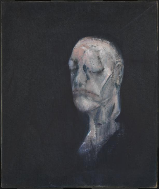 """Study for Portrait II (after the Life Mask of William Blake) 1955 by Francis Bacon."" Featured in Michael Peppiatt's ""Francis Bacon in Your Blood: A Memoir"" in The Examined Life Library."