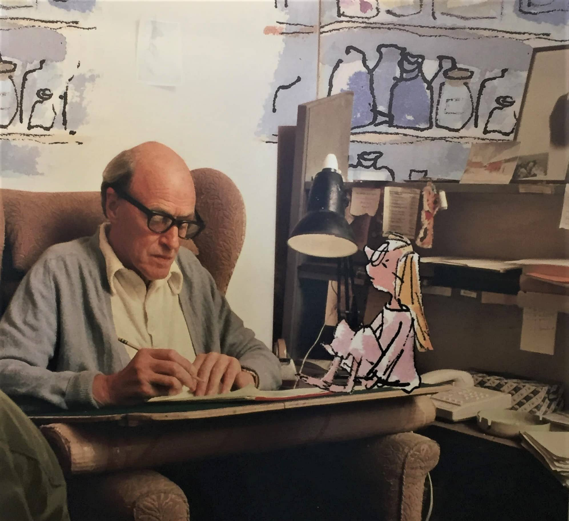 "Photo of Roald Dahl from the Roald Dahl Museum. Featured in Roald Dahl's ""Boy"" in the Examined Life Library."