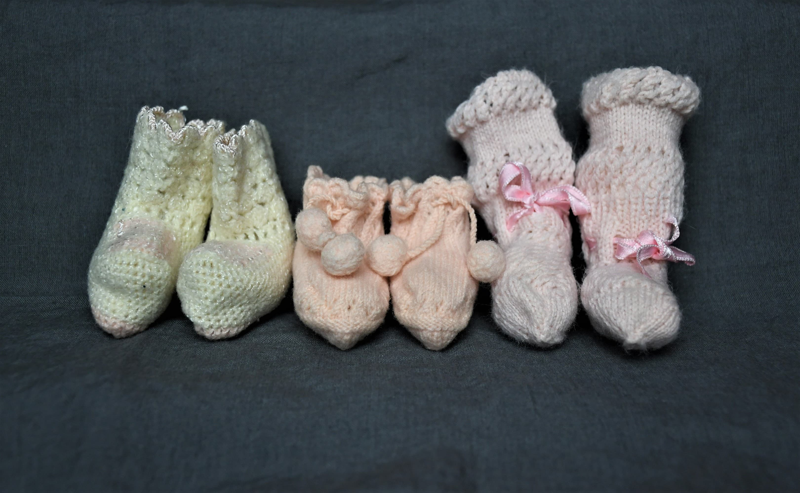 "Photos of booties. Featured in ""The Gifts of Inheritance."""