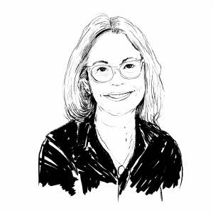 Illustration of Dani Shapiro.