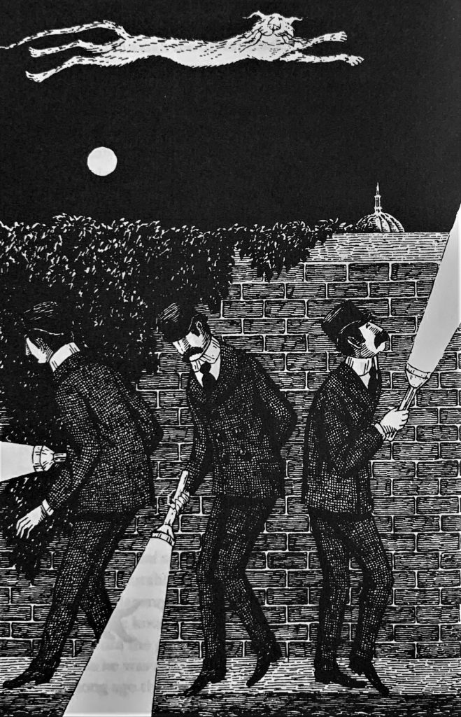 """Edward Gorey's illustrations for T. S. Eliot's """"Old Possum's Book of Practical Cats"""" in the Examined Life Library."""