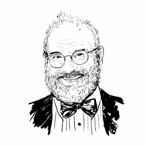 Illustration of Oliver Sacks.