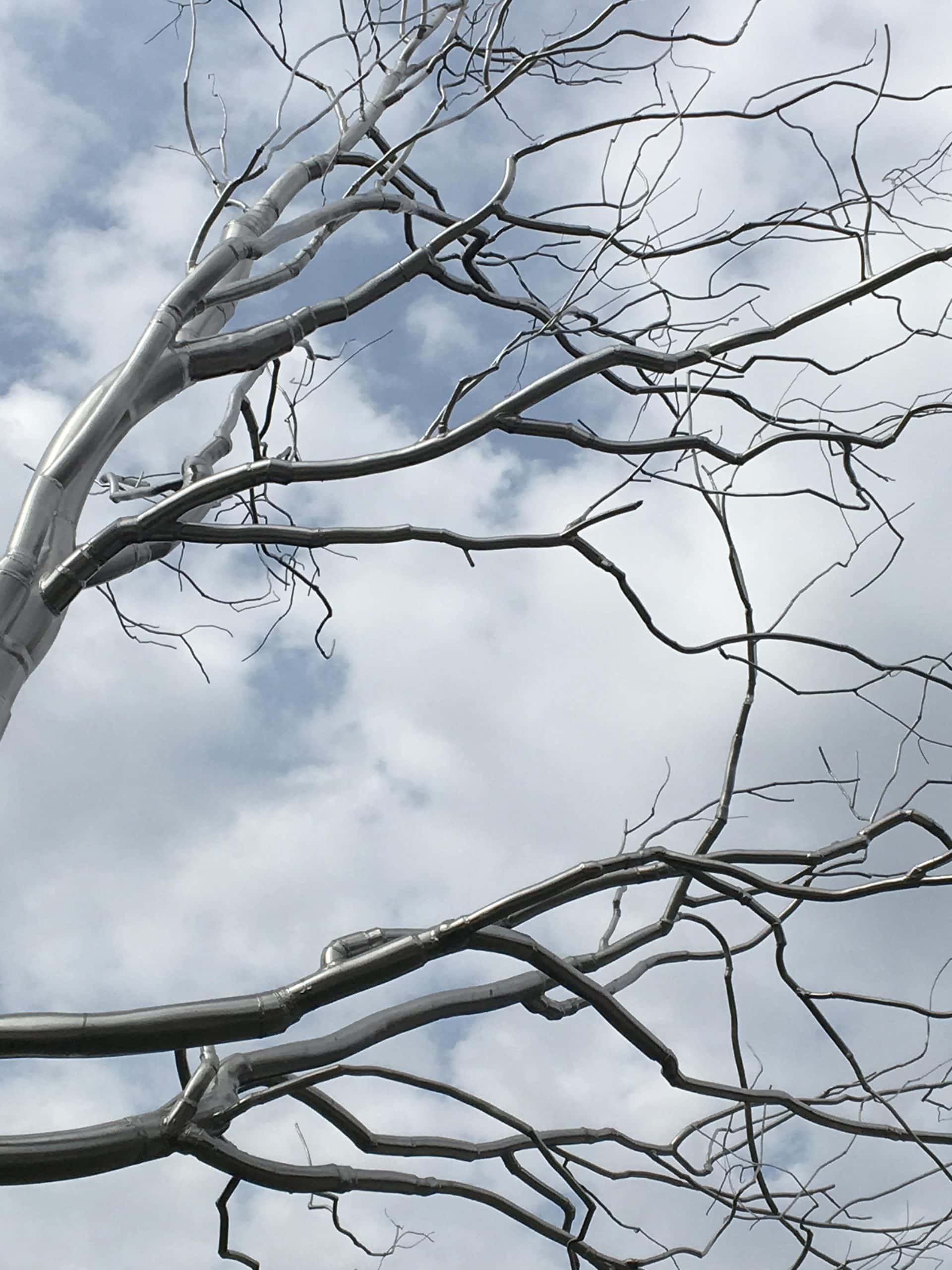 """Graft"" by Roxy Paine, 2009. Featured in ""Things Grown Piece by Piece."""