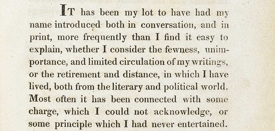 "Introduction to Coleridge's Biographia Literaria published in 1817. Source: The British Library. Featured in Samuel Taylor Coleridge's ""The Major Works"" in the Examined Life Library."