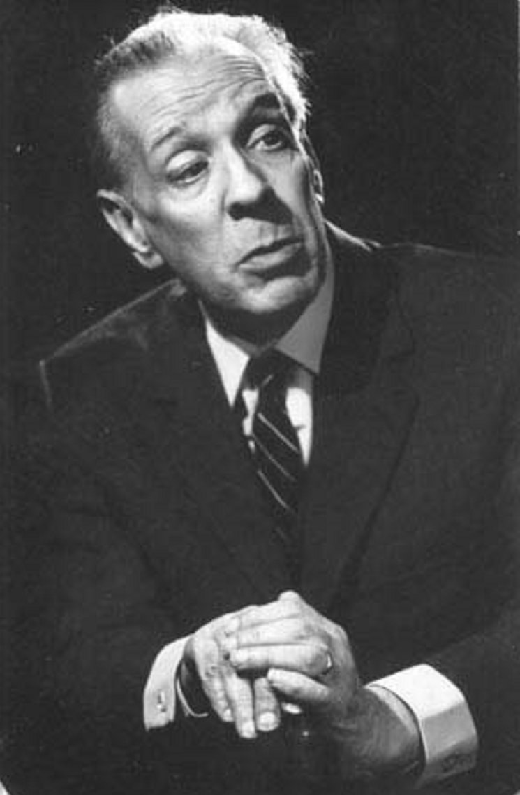 "Photo of Jorge Luis Borges. Featured in Borges ""The Book of Imaginary Beings"" in the Examined Life Library."