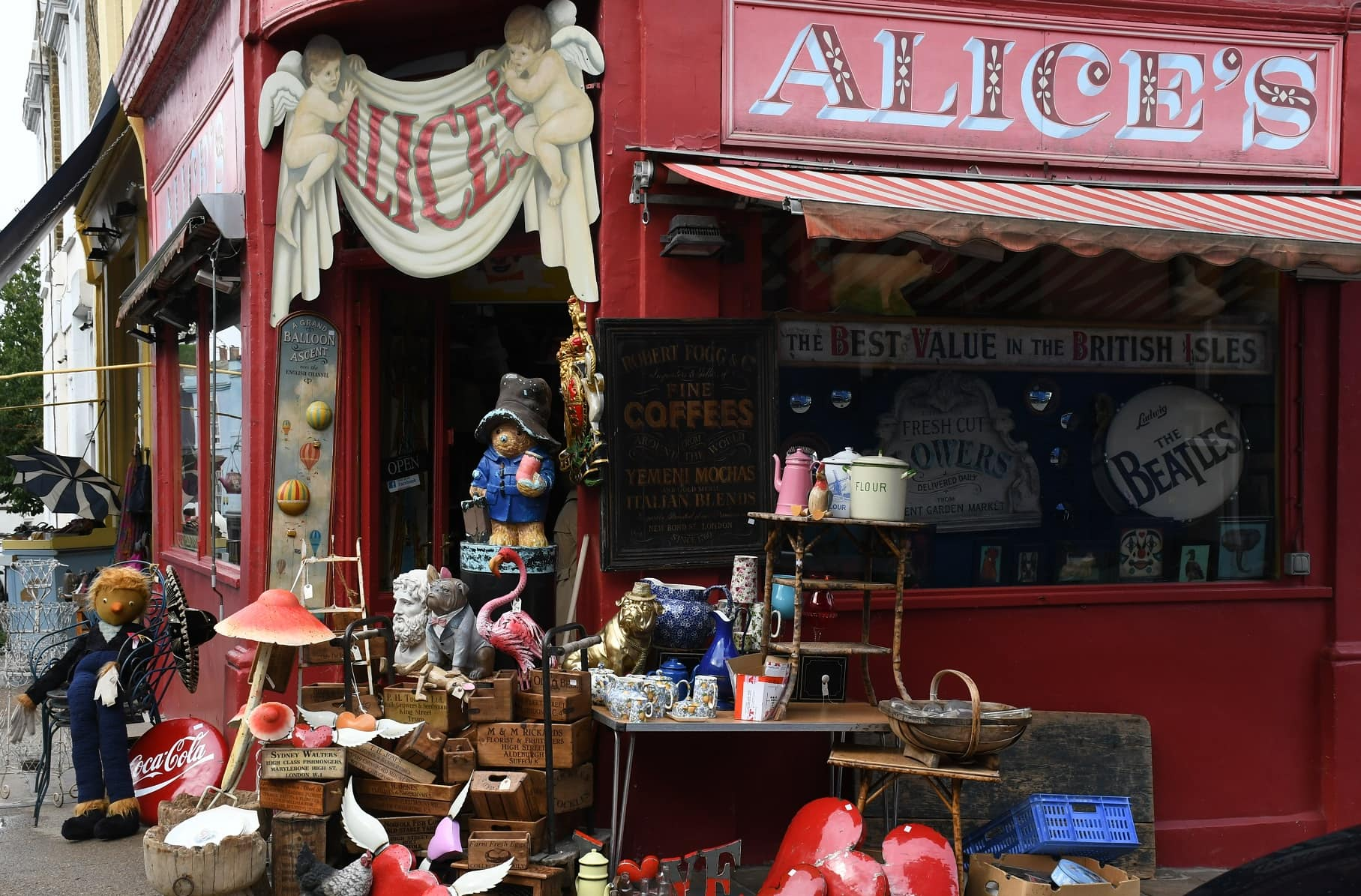 "Alices in Notting Hill Gate. Featured in Erich Fromm's ""To Have or To Be"" in the Examined Life Library."