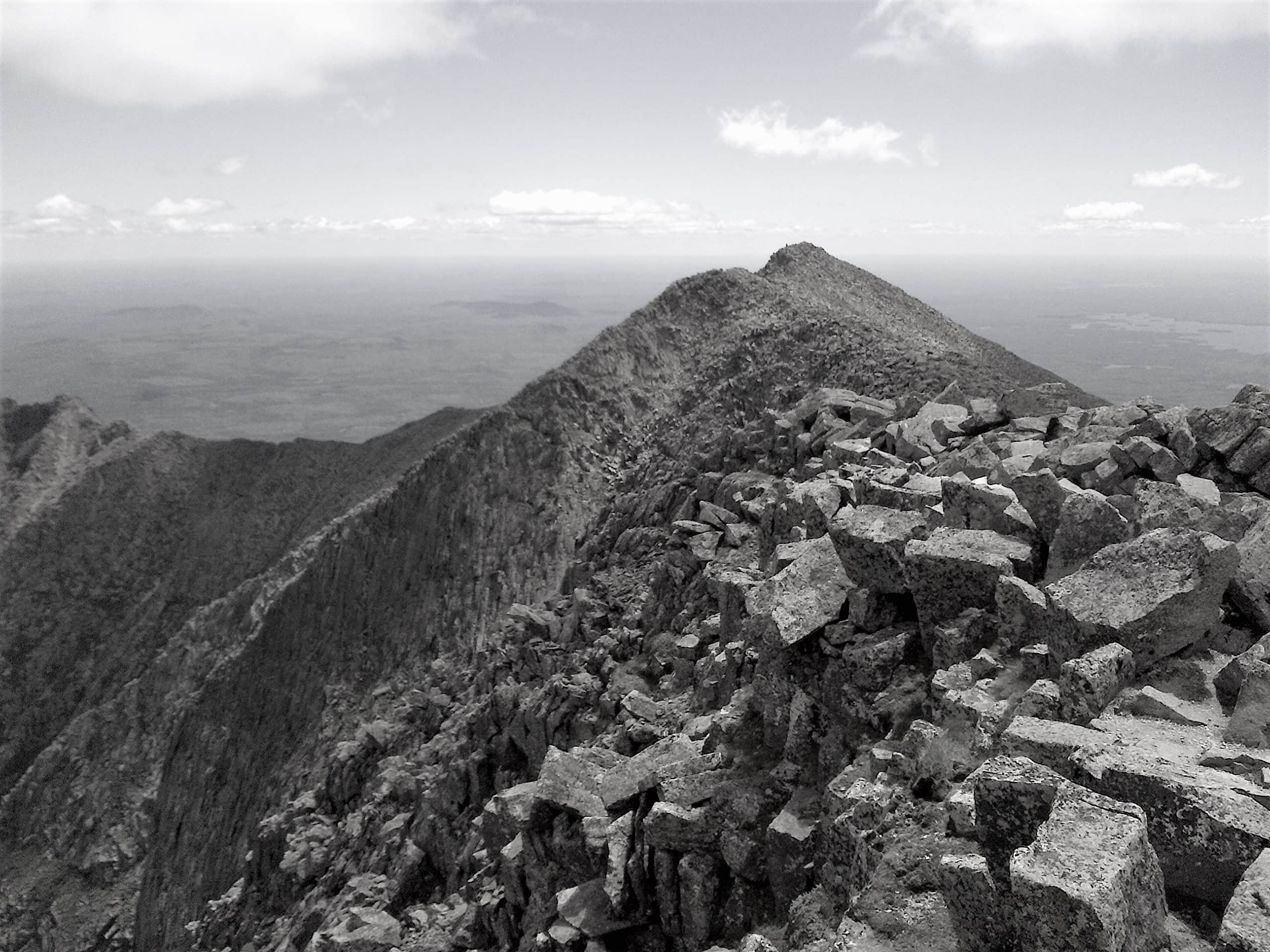 "Photograph of Mt. Katahdin by Ellen Vrana. Featured in Albert Camus' ""The Myth of Sisyphus"" in the Examined Life Library."