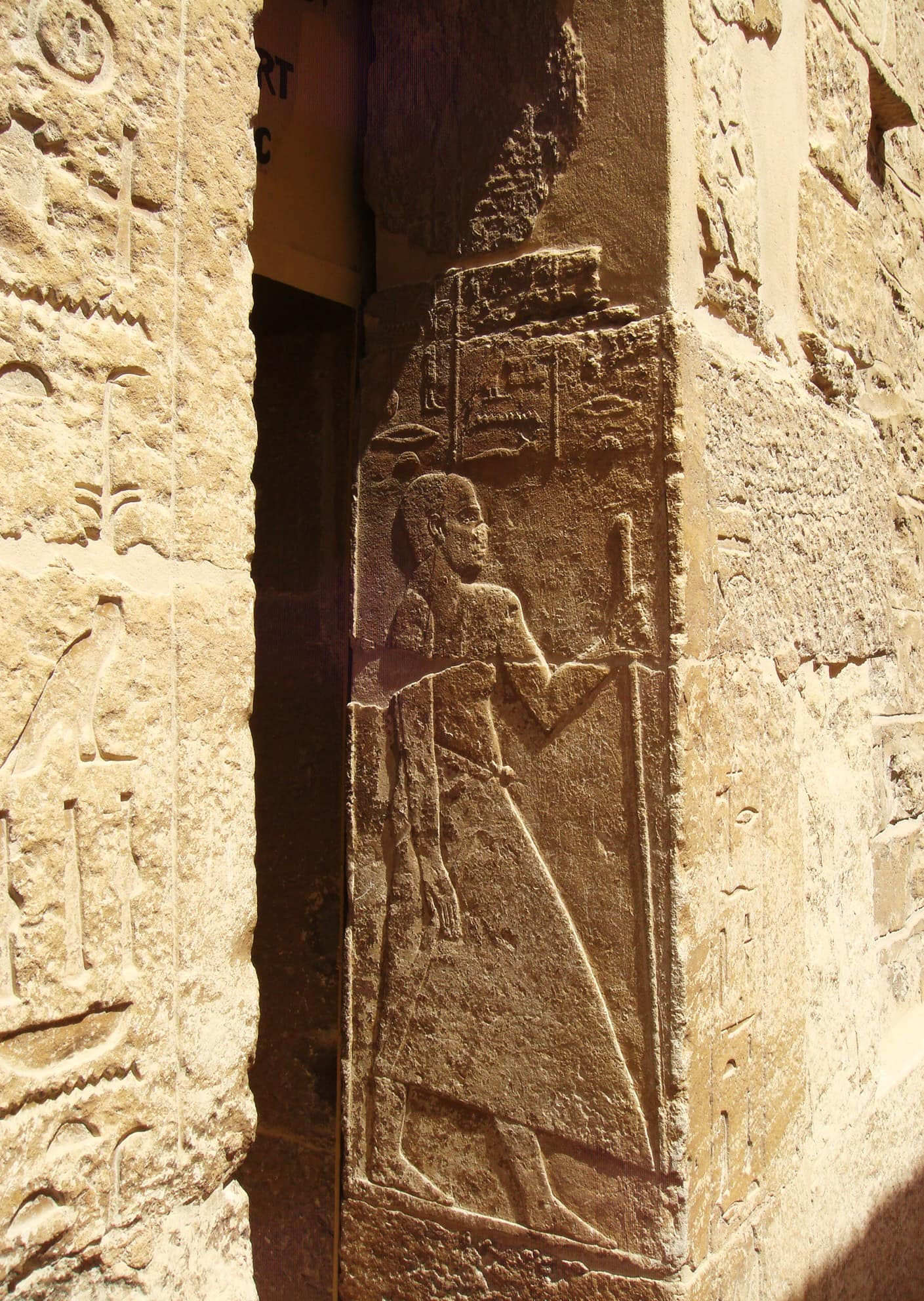 "Hieroglyphics at Luxor, Egypt. Featured in ""The Word is Not Enough"" in the Examined Life."