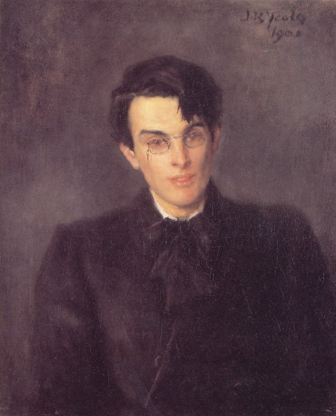 "William Butler Yeats, painted by his father. Featured in W. B. Yeats ""Selection of Poems"" in the Examined Life Library."
