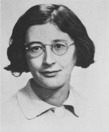 Photograph of Simone Weil.