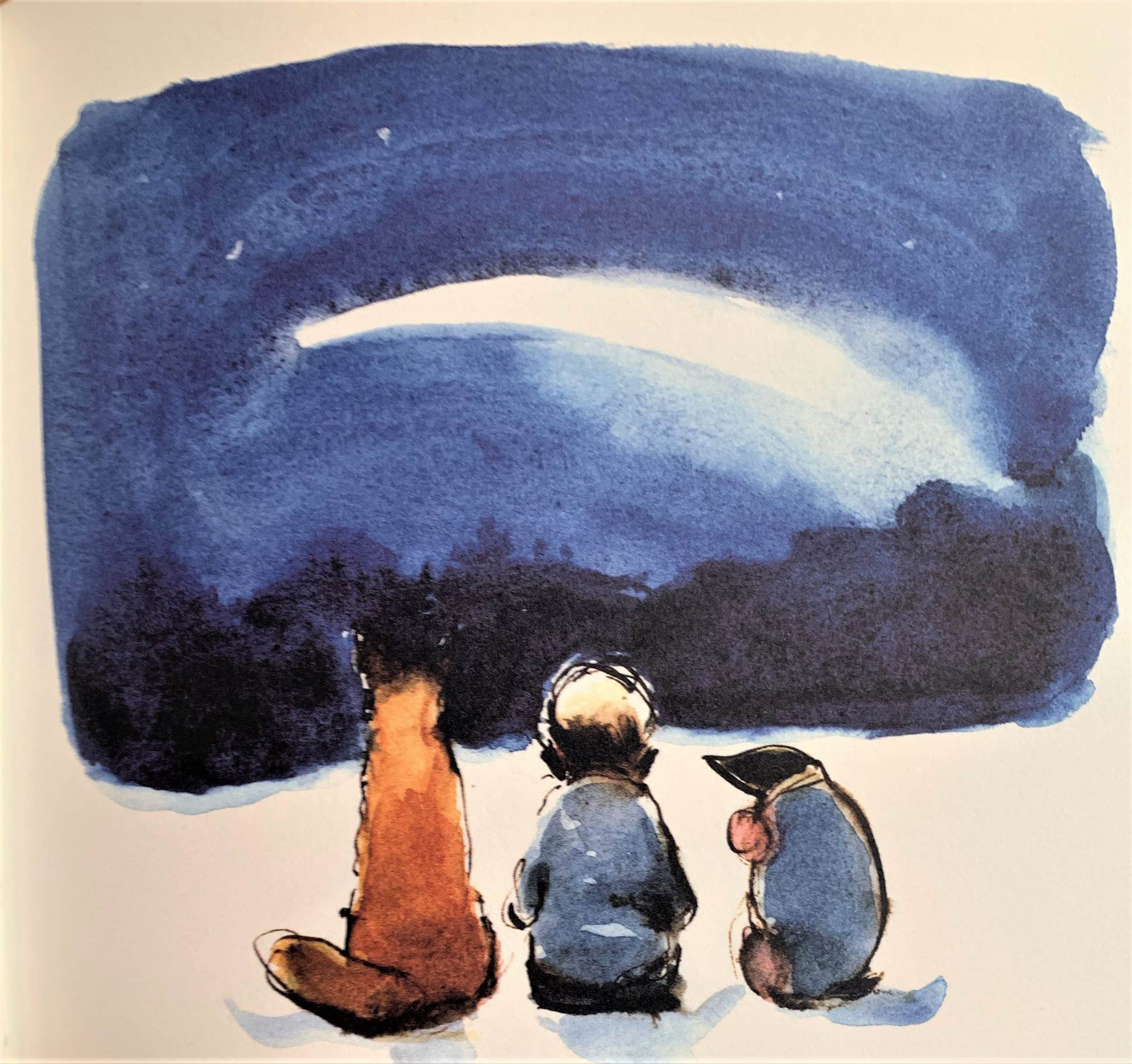 "Charlie Mackesy's illustrations for ""the Boy, the mole, the fox and the House"" featured in The Examined Life Library."