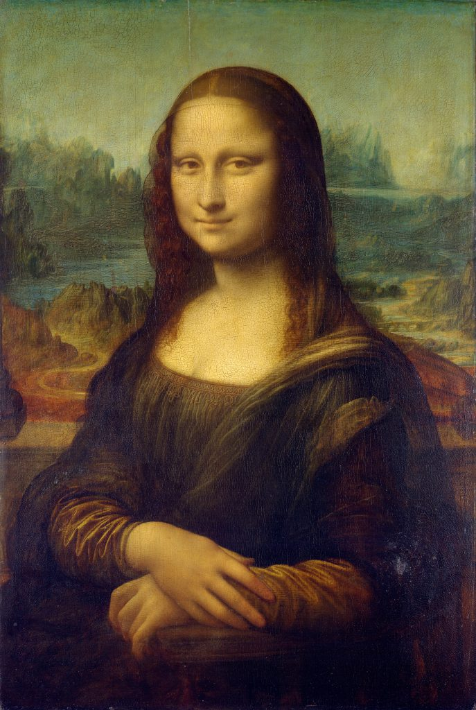 """Mona Lisa by Leonardo da Vinci. Featured in Rebecca Solnit's """"A Field Guide for Getting Lost"""" in the Examined Life Library."""