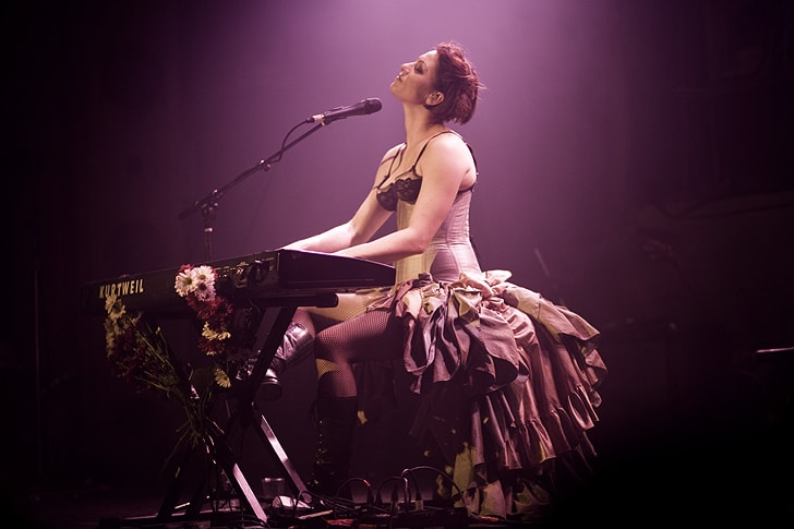 "Photograph of Amanda Palmer for Palmer's ""The Art of Asking"" in the Examined Life Library."