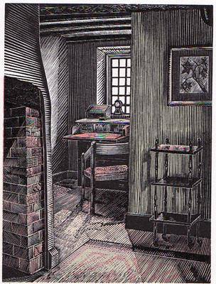 """""""Corner Alcove, The Glebe House"""" by Howard Phipps featured in Laurie Lee's """"Cider with Rosie"""" in the Examined Life Library."""