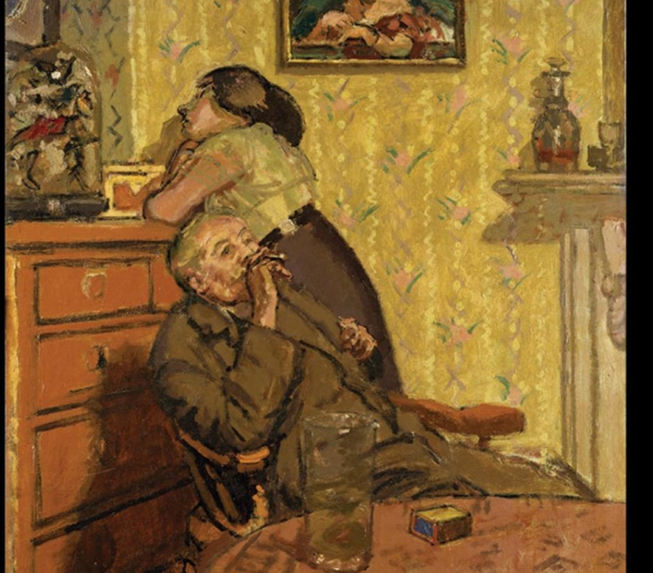 """Ennui"" 1914, by Walter Richard Sickert featured in ""The Unlikely Strength of Corners"" on The Examined Life."
