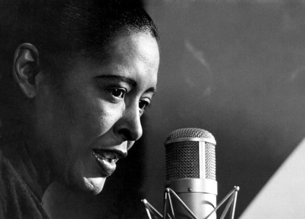 """Photograph of Billie Holiday in 1947 by Michael Ochs. Featured in Billie Holiday's """"Lady Sings the Blues"""" in the Examined Life Library."""