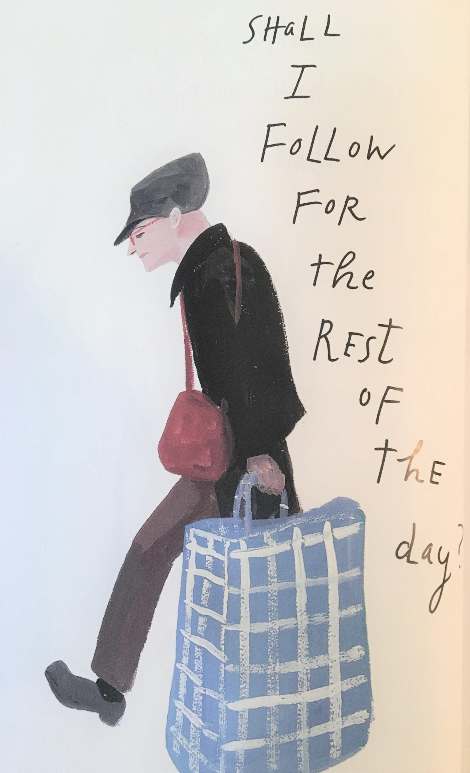 """Illustration by Maira Kalman from Kalman's book """"Principles of Uncertainty"""" in the Examined Life Library."""
