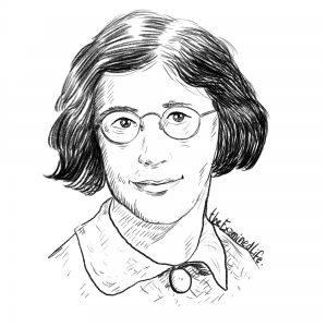 Illustration of Simone Weil. © The Examined Life