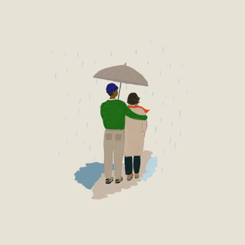 """Illustration for Erich Fromm's """"The Art of Loving"""" in the Examined Life Library."""